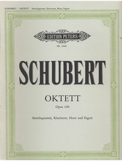 Schubert, F.: Octet Op.166-2 violins, viola, cello, bass, Clarinet, F horn, bassoon