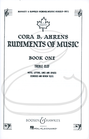 HAL LEONARD Ahrens: Rudiments of Music, Vol.1 - Boosey & Hawkes