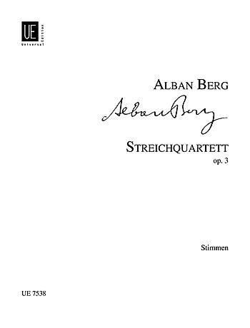 Berg: String Quartet Op.3 Set of Parts