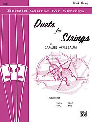 Alfred Music Applebaum, Samuel: Duets for Strings, Book Three (2 basses)