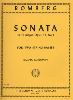 International Music Company Romberg (Simandl): Sonata #1 in Bb Op.43 (2 basses)