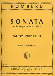 International Music Company Romberg (Simandl): Sonata #1 in Bb Op.43 (2 basses)