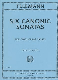 International Music Company Telemann, G.P.: Canonic Sonatas (2 basses)
