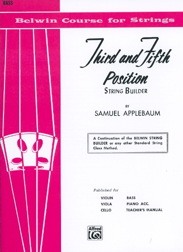 Alfred Music Applebaum, S.: Third and Fifth Position (bass)