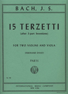 International Music Company Bach (David): 15 Terzetti - after 3-part Inventions (2 violins & viola)