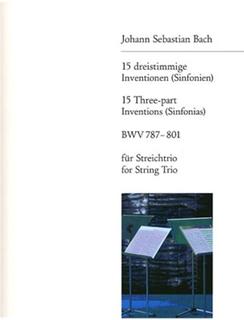 Bach, J.S.: 15 Three-Part Inventions-Terzetti (violin, viola & cello) score & parts