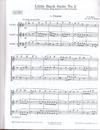 Carl Fischer Bach, J.S.: Little Bach Suite #2 (two violins & cello) score & parts
