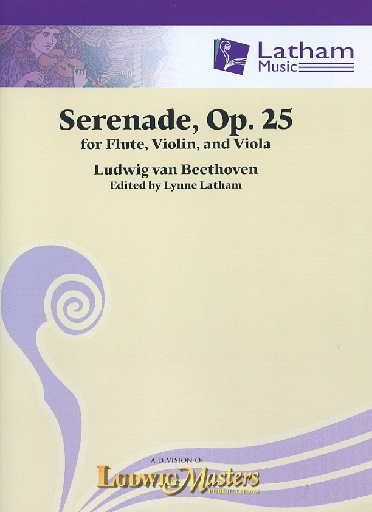 LudwigMasters Beethoven, L. (Latham): Serenade, Op. 25 (flute, violin, viola, and score)