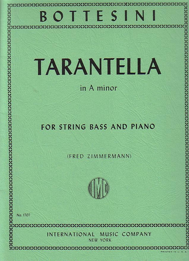 International Music Company Bottesini, Giovanni: Tarantella in a minor (bass & piano)
