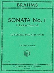 International Music Company Brahms, J. (Martin): Sonata No.1 in E minor, Op. 38 (bass, and piano)