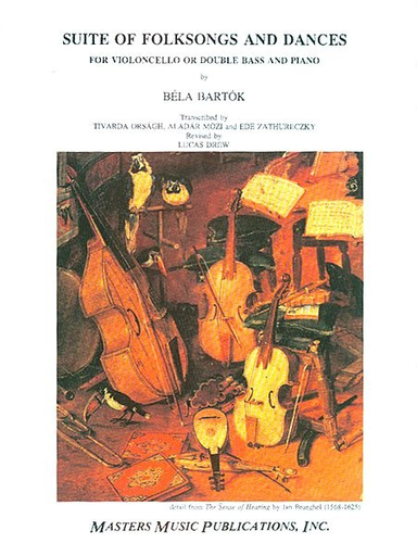 LudwigMasters OUT OF PRINT: Bartok, Bela (Drew) : Folksong Suite (Bass & piano)