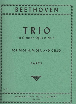 International Music Company Beethoven: Trio in C minor Op.9 No.3 (violin, viola & cello) IMC