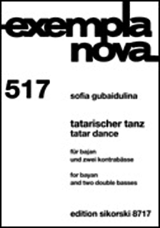 HAL LEONARD Gubaidulina, S.: Tatar Dance (bayan and 2 double basses)