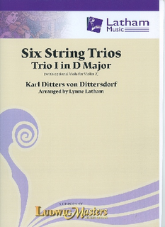 von Dittersdorf, K.D. (Latham): 6 String Trios, Trio 1 in D Major (score and parts, with optional viola for 2nd violin part)