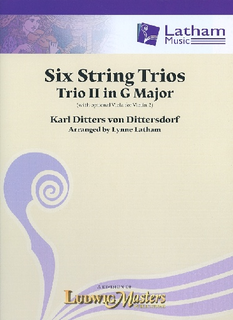 von Dittersdorf, K.D. (Latham): 6 String Trios, Trio 2 in G Major (score and parts, with optional viola for 2nd violin part)