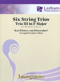 LudwigMasters von Dittersdorf, K.D. (Latham): 6 String Trios, Trio 3 in F Major (score and parts, with optional viola for 2nd violin part)