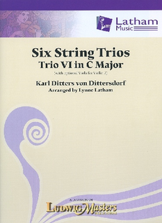 von Dittersdorf, K.D. (Latham): 6 String Trios, Trio 6 in C Major (score and parts, with optional viola for 2nd violin part)