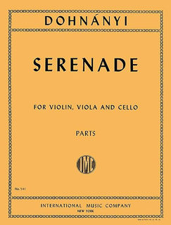 International Music Company Dohnanyi, E.: Serenade in C Major, Op.10 (violin, viola, and cello) IMC