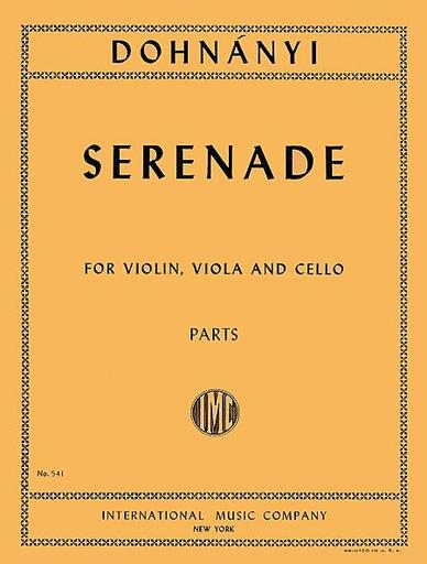 International Music Company Dohnanyi, E.: Serenade in C Major, Op.10 (violin, viola, and cello) IMC