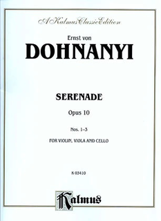 Alfred Music Dohnanyi: Serenade Op.10 (violin, Viola & cello)