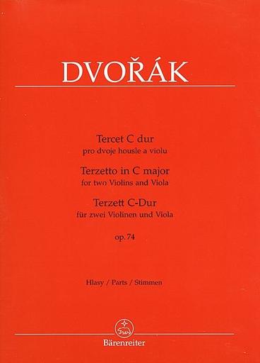 Barenreiter Dvorak: Terzetto in C Major, Op.74 (2 violins & viola) Barenreiter