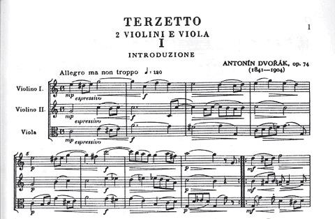 LudwigMasters Dvorak: Terzetto Op.74-Critical Edition (2 violins & viola)score & parts