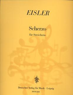 Eisler, H.: Scherzo for String Trio-score & parts (violin, Viola, Cello)