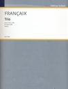 HAL LEONARD Francaix, J.: String Trio; 1933 (violin, viola, and cello) Edition Schott