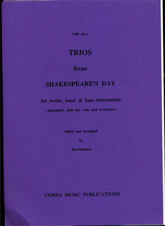 Corda Music Publications Gammie (arr): Trios from Shakespeare's Day (violin, Viola & cello) Corda Music Publications