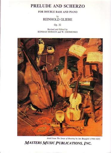 LudwigMasters Gliere, Reinhold: Prelude & Scherzo Op.32 (bass & piano)