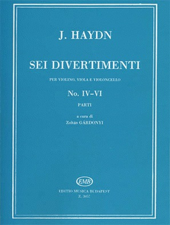 HAL LEONARD Haydn, F.J.: 6 Divertimenti No. 4-6 (violin, Viola, Cello)