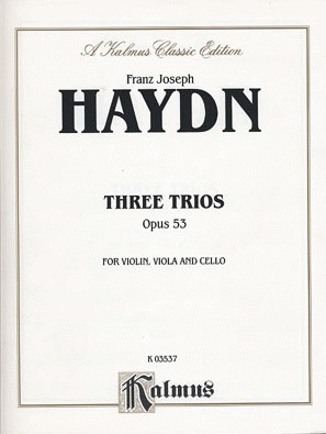 Alfred Music Haydn, F.J.: Three Trios Op.53 (violin, Viola, Cello)