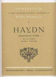 Haydn, F.J.: Divertimento in G Major (2 violins & cello) score & parts