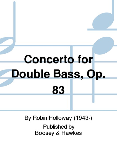 HAL LEONARD Holloway, R.: Concerto for Double Bass (bass & piano)