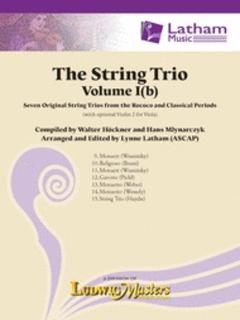 LudwigMasters Hockner, W: The String Trio Vol.1b (string trio) Ludwig Masters