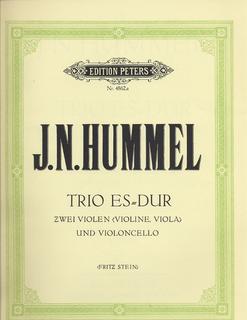 Hummel, Johann Nepomuk: Trio in Eb (violin, viola, cello) or two vioins and cello