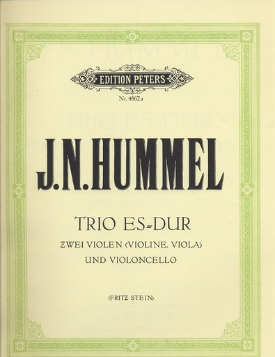 Hummel, Johann Nepomuk: Trio in Eb (violin, viola, cello) or two vioins and cello
