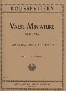 International Music Company Koussevitzky, Serge: Valse Miniature Op.1 #2 (bass & piano) IMC