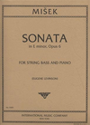 International Music Company Misek: Sonata in E minor, Op.6 for (bass, piano) IMC
