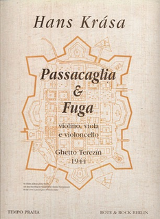 HAL LEONARD Krasa, Hans: Passacaglia & Fugue (violin, Viola, Cello) score & parts
