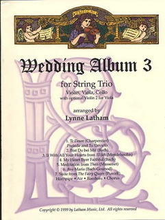 Latham, Lynne: Wedding Album 3 for String Trio (violin, Violin 2 Or viola & cello)