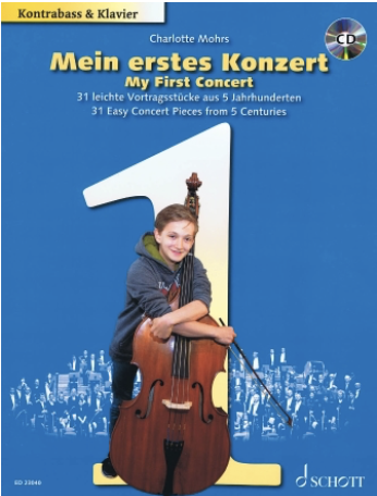 HAL LEONARD Mohrs: My First Concert 31 Easy Concert Pieces from 5 Centuries (bass, piano)