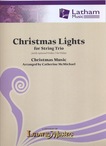 McMichael, Catherine: Christmas Lights for String Trio (with optional violin 2 for viola) score & parts