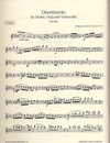 Mozart, W.A.: Divertimento in Eb K563 (violin, Viola & cello)