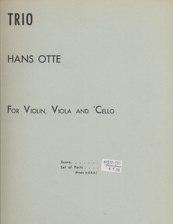 Carl Fischer Otte, Hans: Trio (violin, viola & cello)