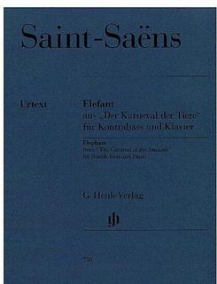 HAL LEONARD Saint-Saens, C. (Glöckler, ed.): Elefant from the Carnival of the Animals, urtext (bass & piano)