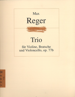 HAL LEONARD Reger, Max: Trio Op.77b for Violin, Viola & Cello