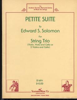 Southern Music Company Solomon, Edward: Petite Suite for String Trio (violin, viola, cello)