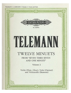 Telemann, G.P.: 12 Minuets from 7 x 7 and one Minuet Vol.2 (violin, viola, cello)