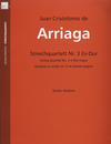Arriaga, Juan (Hockner) : String Quartet No. 3 in Eb  (parts)